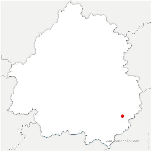 carte de localisation de Domme