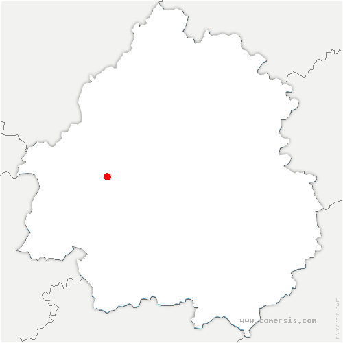 carte de localisation de Douzillac