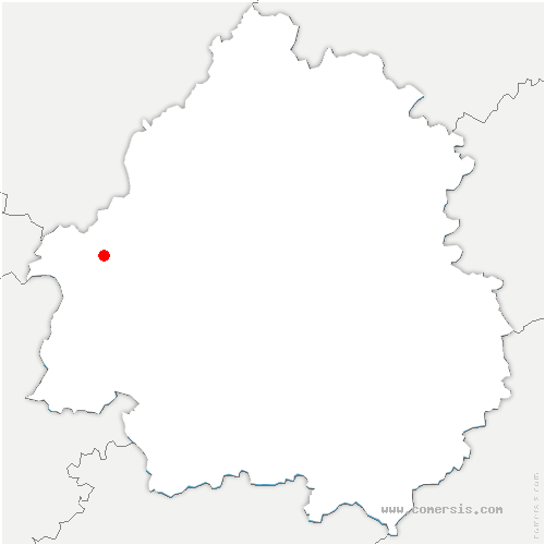carte de localisation de Échourgnac