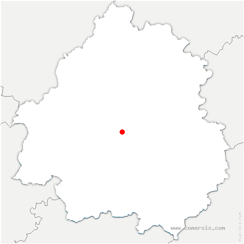 carte de localisation de Église-Neuve-de-Vergt