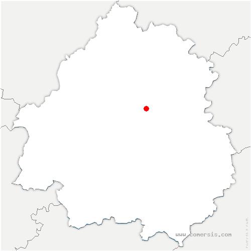 carte de localisation de Escoire