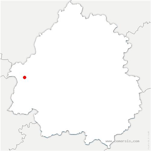 carte de localisation de Eygurande-et-Gardedeuil