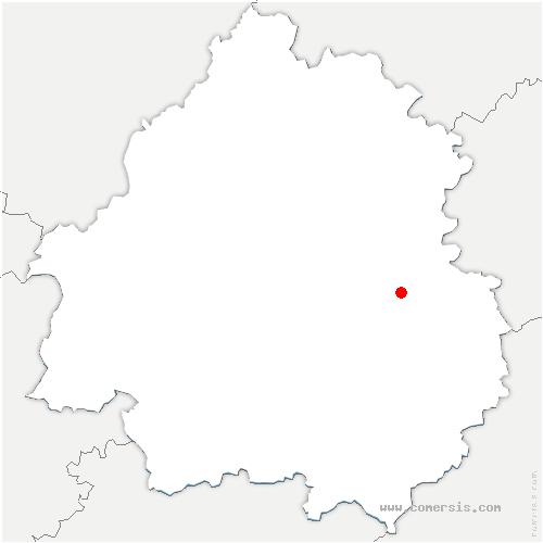 carte de localisation de Fanlac