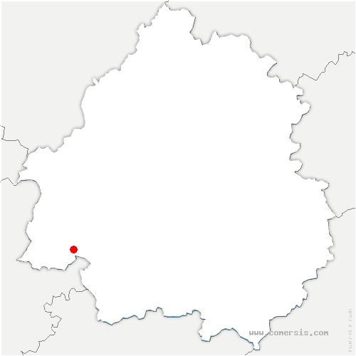 carte de localisation de Fleix