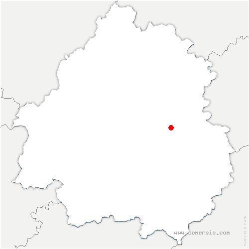 carte de localisation de Fossemagne