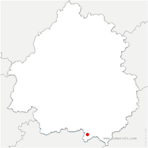 carte de localisation de Gaugeac