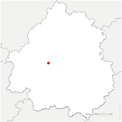 carte de localisation de Grignols