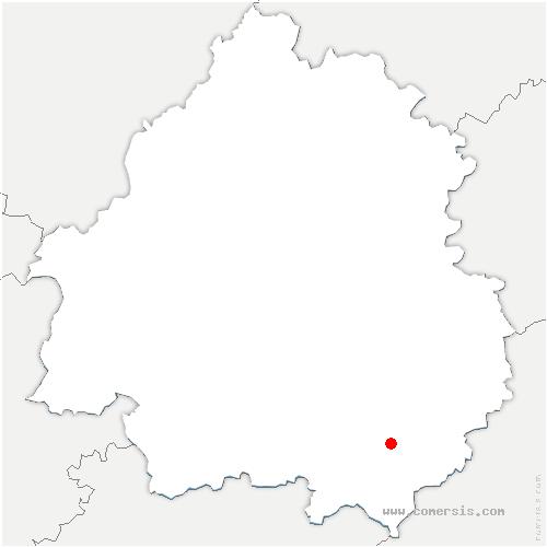 carte de localisation de Grives