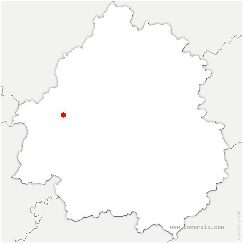 carte de localisation de Jemaye-Ponteyraud