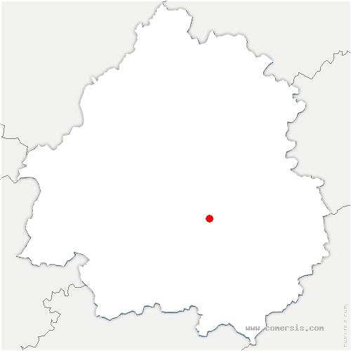 carte de localisation de Journiac