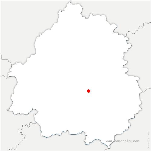carte de localisation de Lacropte