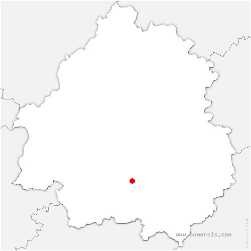 carte de localisation de Lalinde