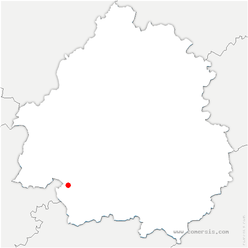 carte de localisation de Lamonzie-Saint-Martin