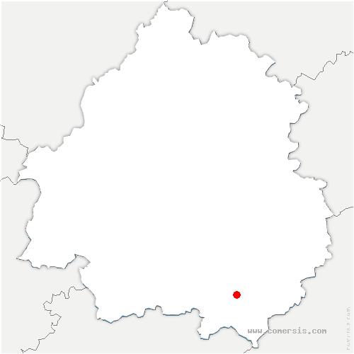 carte de localisation de Larzac
