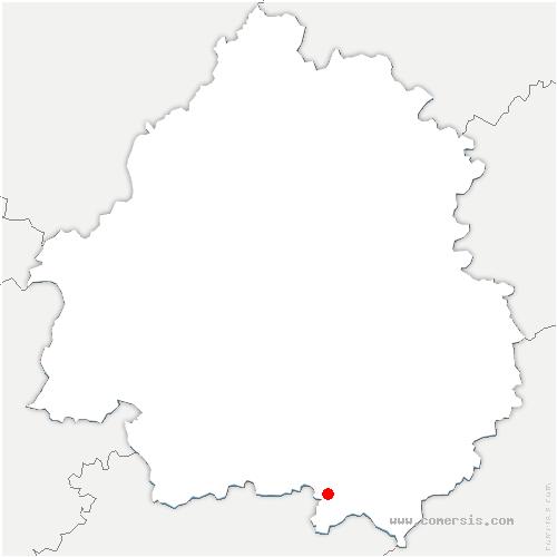 carte de localisation de Lavalade