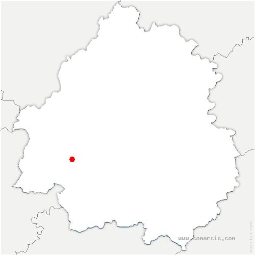 carte de localisation de Lèches