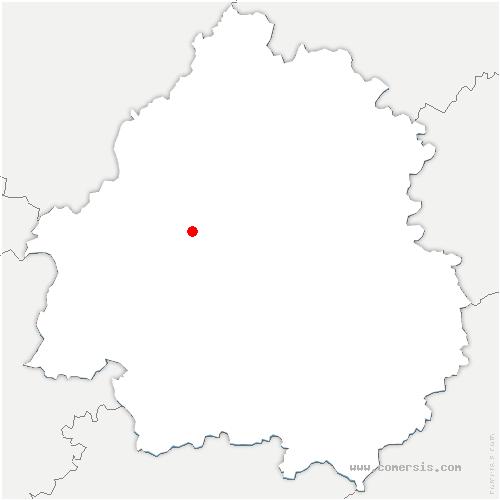 carte de localisation de Léguillac-de-l'Auche