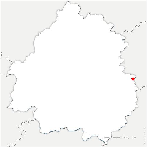 carte de localisation de Les Coteaux Périgourdins