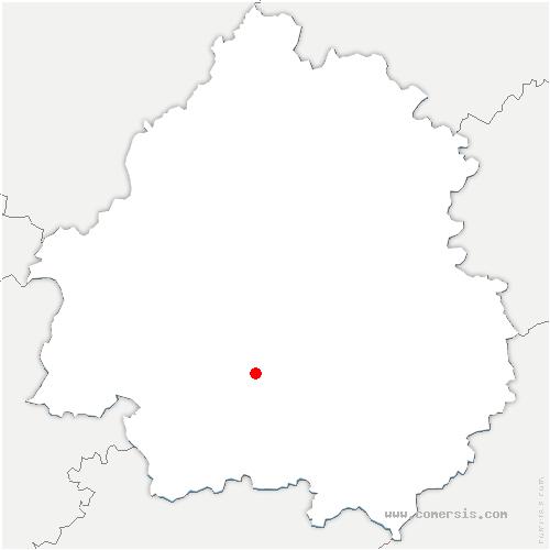 carte de localisation de Liorac-sur-Louyre