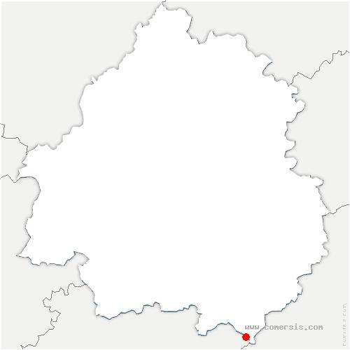 carte de localisation de Loubejac