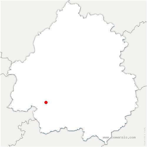 carte de localisation de Lunas