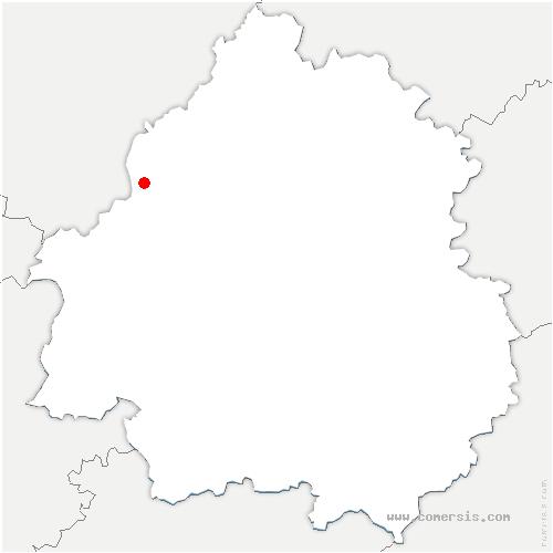 carte de localisation de Lusignac