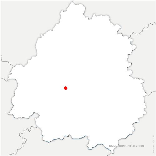 carte de localisation de Manzac-sur-Vern