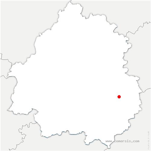 carte de localisation de Marcillac-Saint-Quentin