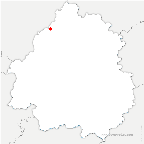 carte de localisation de Mareuil en Périgord