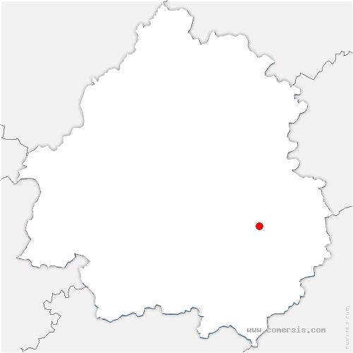 carte de localisation de Marquay