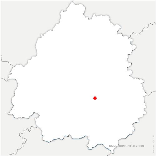 carte de localisation de Mauzens-et-Miremont