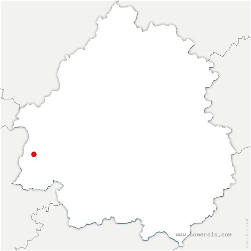 carte de localisation de Ménesplet
