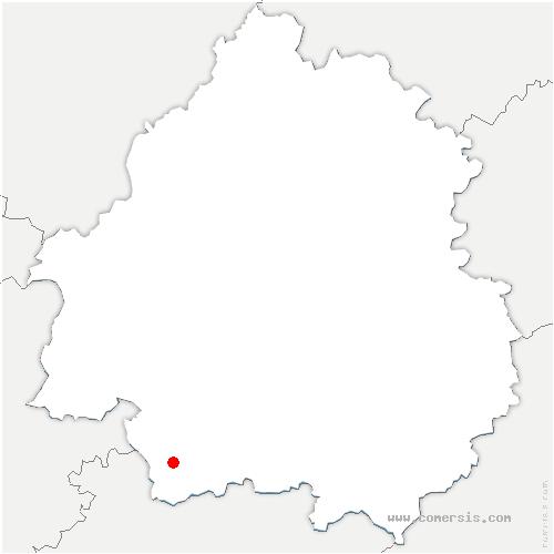 carte de localisation de Mescoules