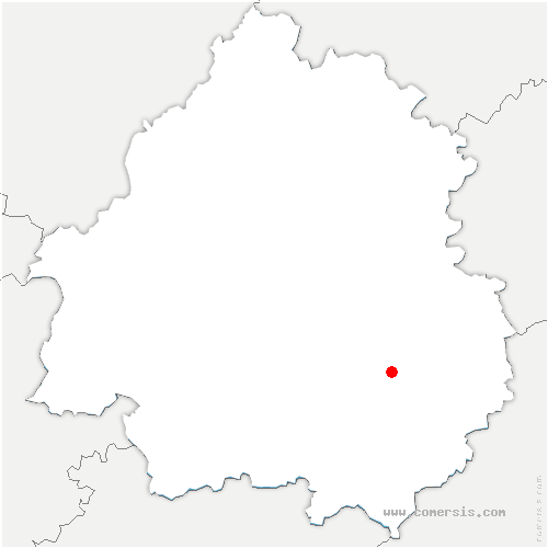 carte de localisation de Meyrals