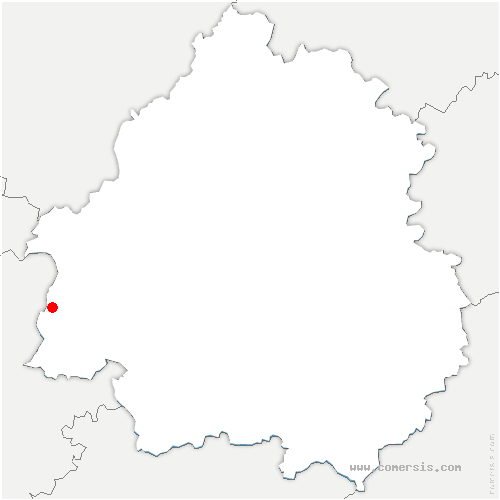 carte de localisation de Minzac