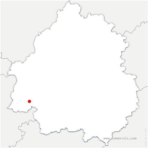 carte de localisation de Monfaucon