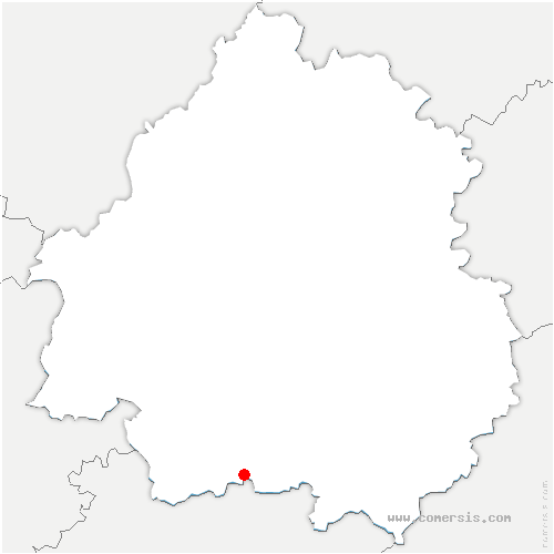 carte de localisation de Monmarvès