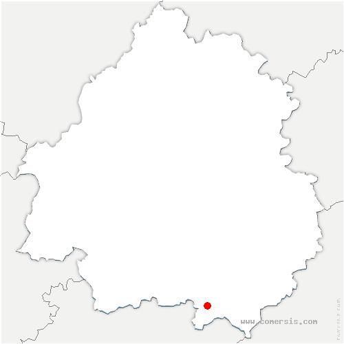carte de localisation de Monpazier