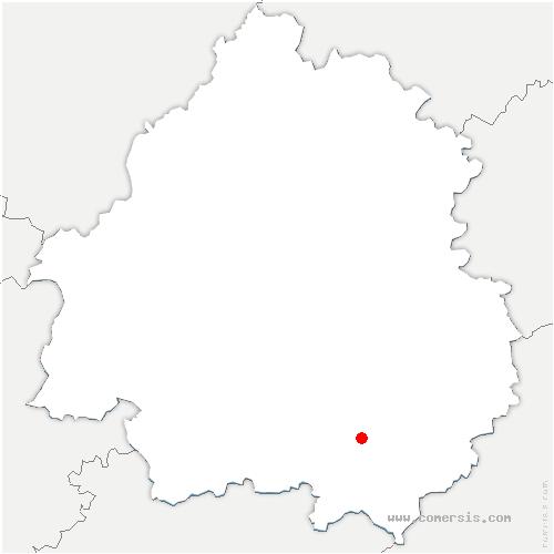 carte de localisation de Monplaisant