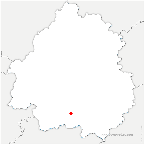 carte de localisation de Monsac