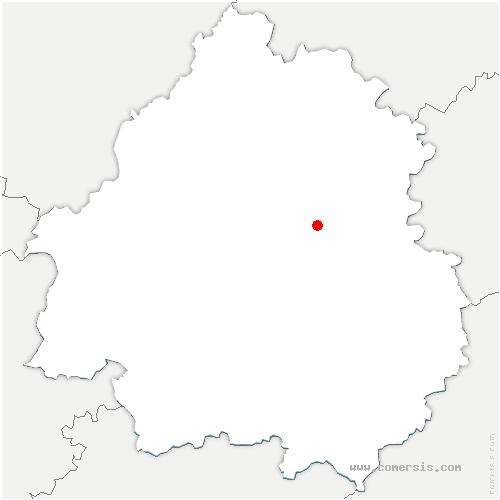 carte de localisation de Montagnac-d'Auberoche