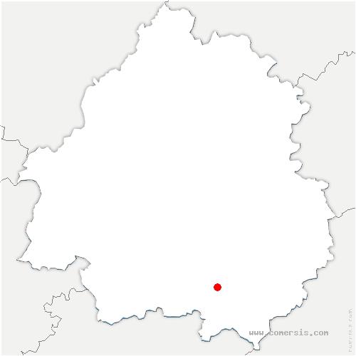 carte de localisation de Montferrand-du-Périgord