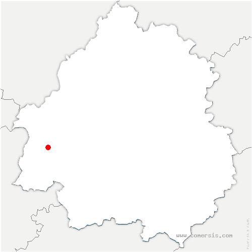 carte de localisation de Montpon-Ménestérol