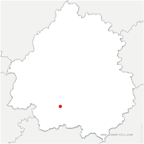 carte de localisation de Mouleydier