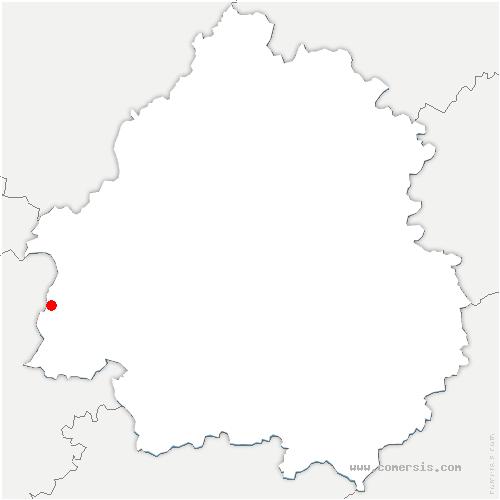carte de localisation de Moulin-Neuf