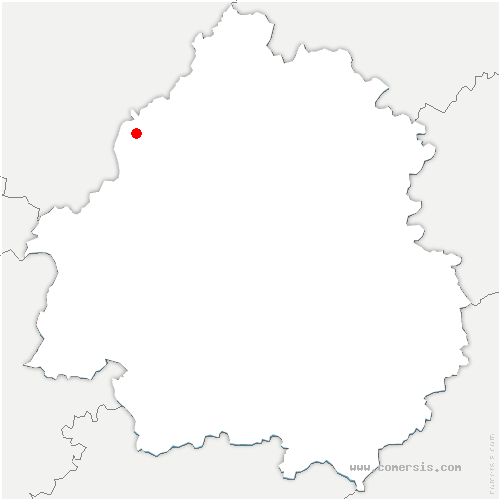 carte de localisation de Nanteuil-Auriac-de-Bourzac