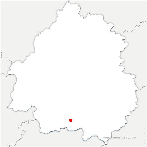 carte de localisation de Naussannes
