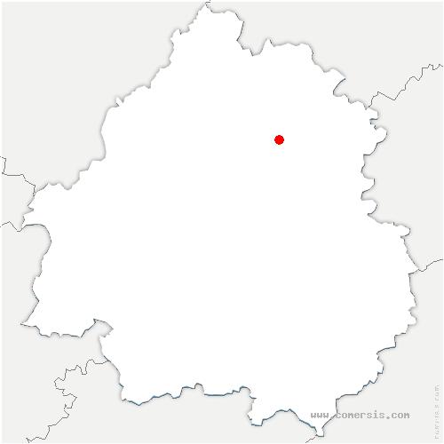 carte de localisation de Négrondes