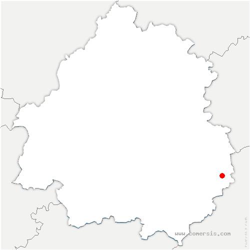 carte de localisation de Orliaguet