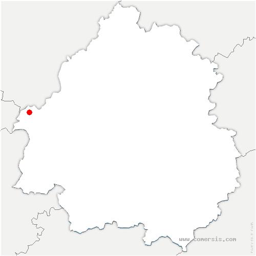 carte de localisation de Parcoul-Chenaud